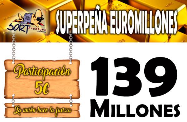 Peña Euromillones Sorteo Bote Especial mas de 100 millones