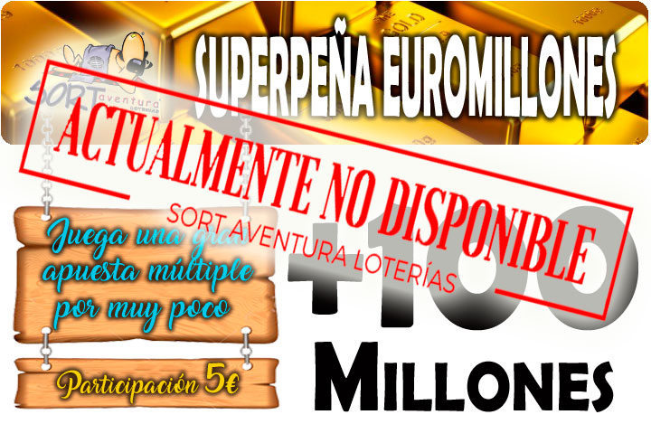 Peña Euromillones Sorteo Bote Especial 100 millones