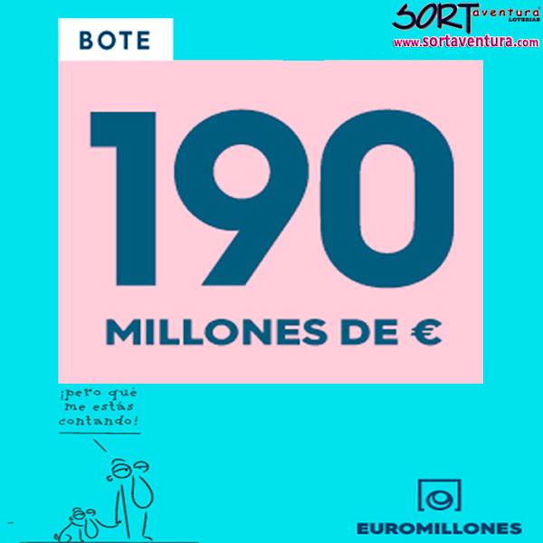 Bote máximo de Euromillones 190.000.000€