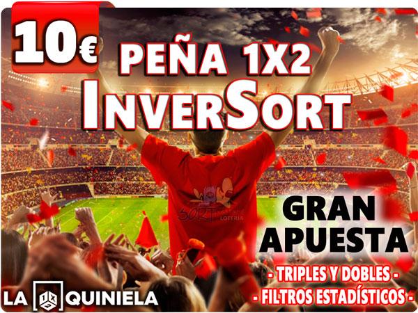 Peña Quinielista InverSort 1X2 Quiniela con sistema estadistico