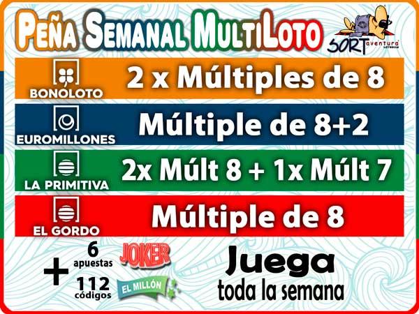 Pena Multijuegos semanal de Loteria Sort Aventura