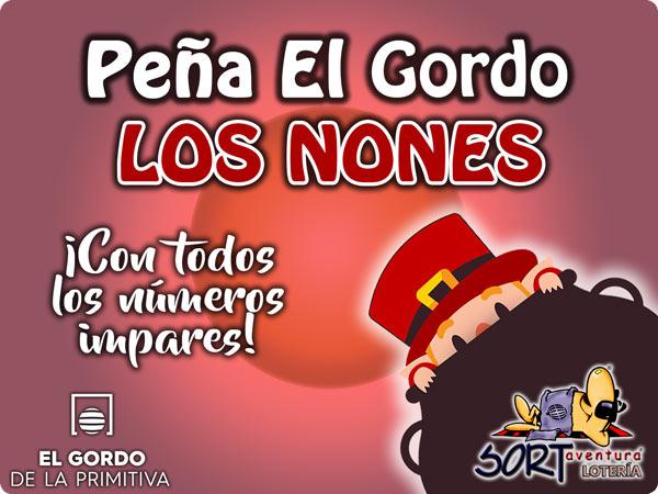 Peña de El Gordo de la Primitiva 'Los Nones'