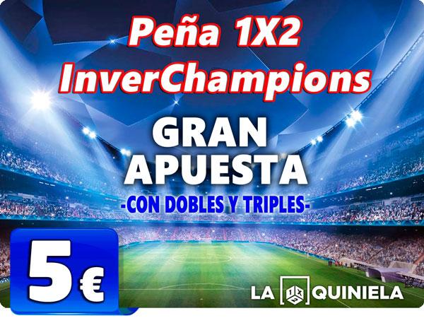 Peña 1X2 InverChampions para las jornada de Quiniela de Liga