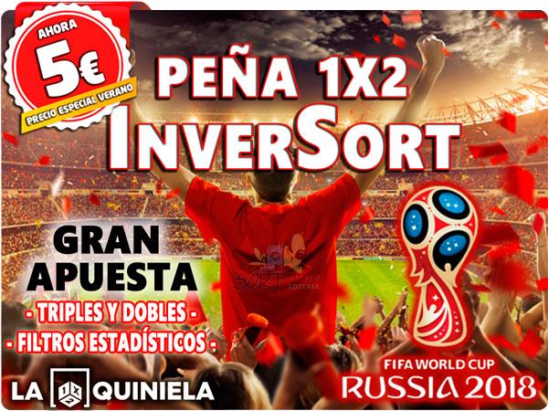 Peña Quinielista InverSort 1X2 Quiniela con sistema estadistico Especial Mundial 2018