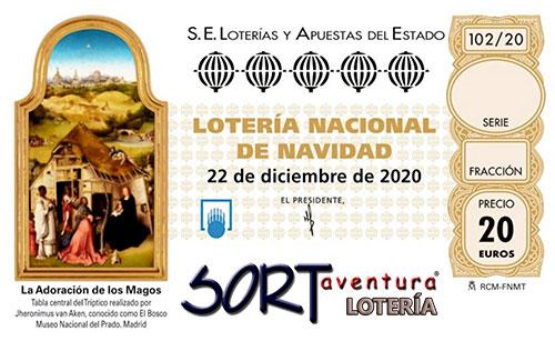 Décimo para el sorteo Extraordinario de Navidad 2020 que se celebrará el 22 de Diciembre.