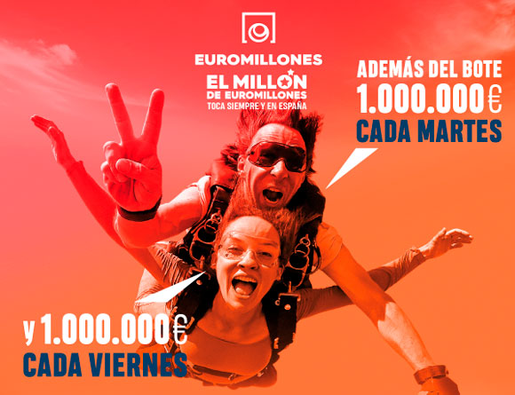Un millón el Martes y otro el Viernes con tus apuestas de Euromillón