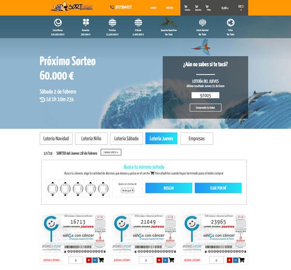 Compra Online tus décimos para el Sorteo de Loteria Nacional del Jueves en Sort Aventura